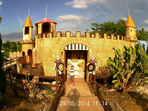 Mini-castle in Sagbayan Peak Kids Town.