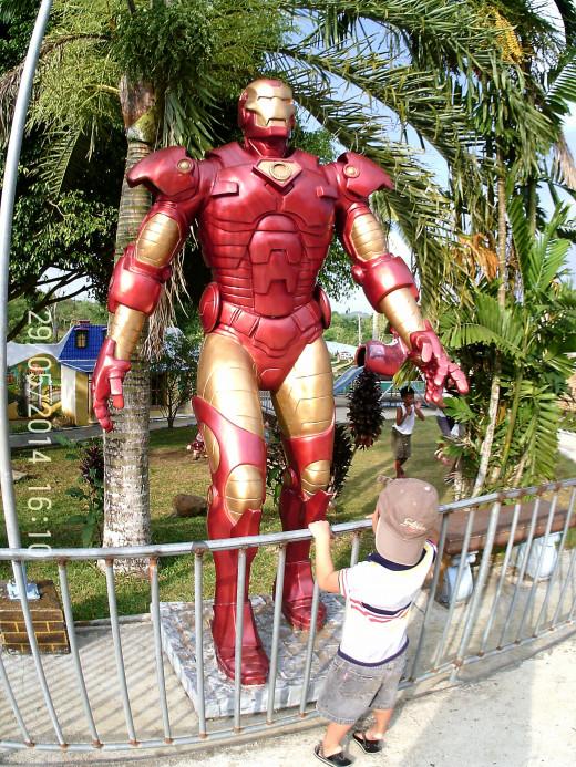 Ironman in Sagbayan Peak Kids Town.