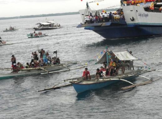 Fluvial  Procession in Bato, Leyte.