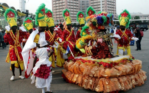 Costume participants at the Abuja Carnival