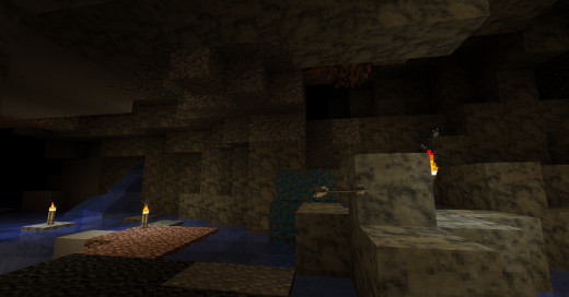 Some stone types seem to be more common in certain biomes, giving you a good reason to duck into every cave you see.