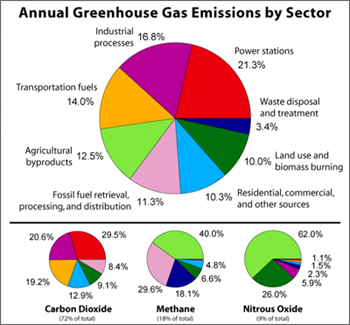 Man-made pollutants