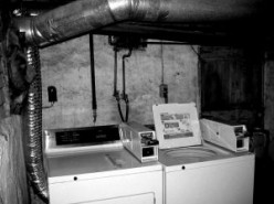 Study in Black and White: Washer and Dryer