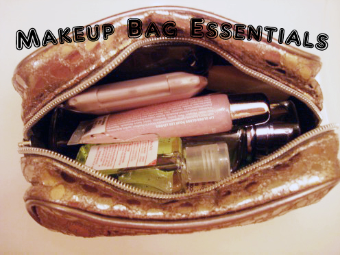 Everything should fit snugly into a small makeup case.
