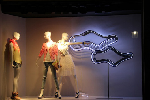 Mannequins or fashion dolls are popular in displaying clothing and accessories.