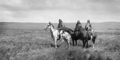 Three Piegan (Blackfeet) chiefs, 1900