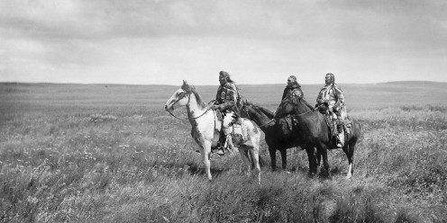 Three Piegan (Blackfeet) chiefs, 1900