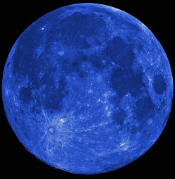 Is a Blue Moon, such as the one tonight, ever really blue in color, or does it mean it is rare?