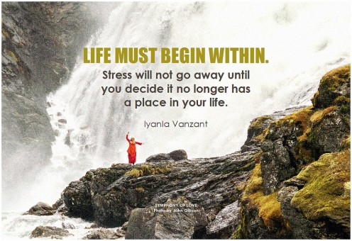 'Life must begin within' ~ Iyanla Vanzant