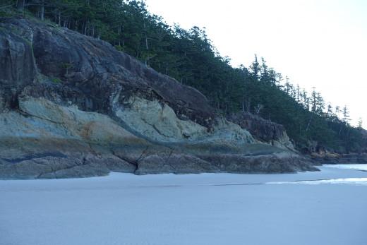 Rocky shore t Tongue Bay