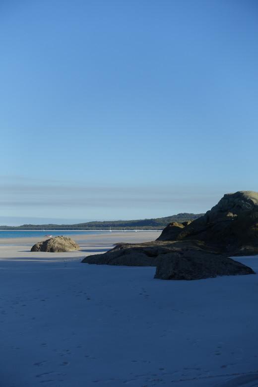 View south along Whitehaven Beach