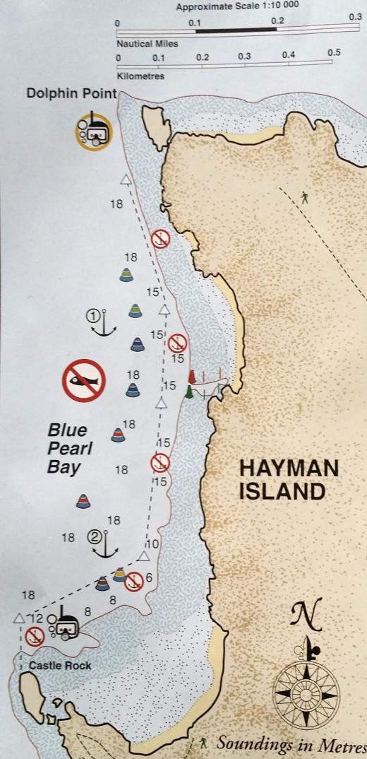 Blue Pearl Bay on the western side of Hayman Island