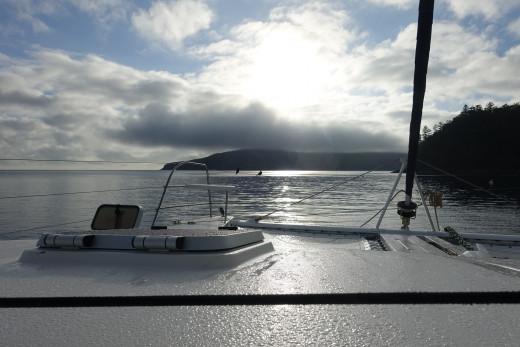 Dawn looking towards Hooke Island