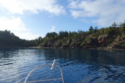 Becalmed at Dumbell Island
