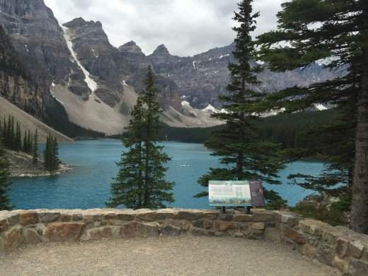 View of Lake Moraine from the end of the Rockpile trail. Banff National Park, Canada