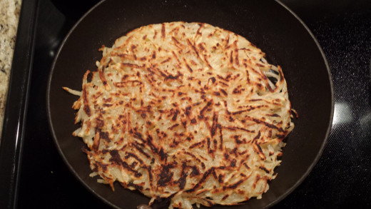 Hash Browns Cooking On My Stove