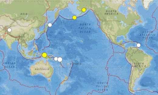 Magnitude 6.3 or greater earthquakes for the month of July 2015.