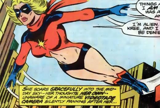 Ms. Marvel's original costume