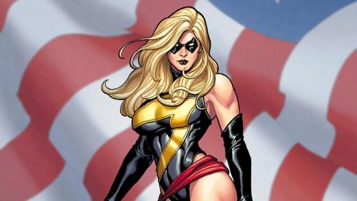 Ms. Marvel's lightning bolt costume