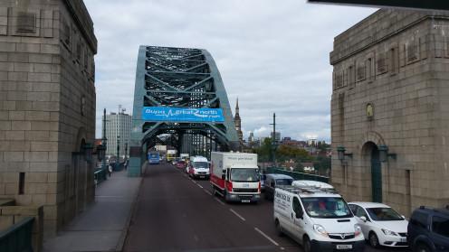 Tyne Bridge going into Newcastle