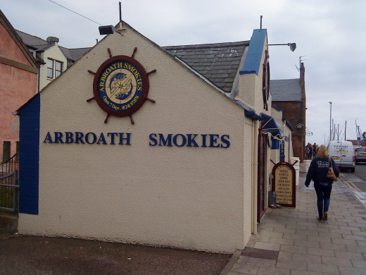 An Arbroath Smokie shop