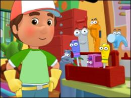 Handy Manny and his tools help fix things