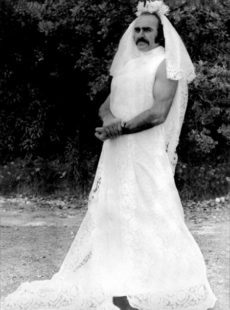 And here's a shot of a buff Sean Connery in a wedding dress. Why? Because Zardoz.