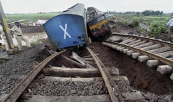 Twin Derailments from Flash Flood