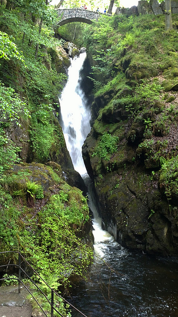 Aira Force waterfall at the top of the path