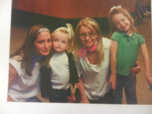 My best friend kristie and her children.