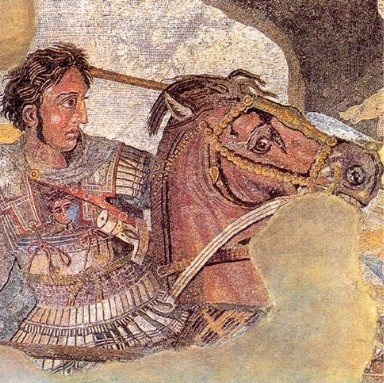 Alexander the Great in linothrax, a type of armor made of linen