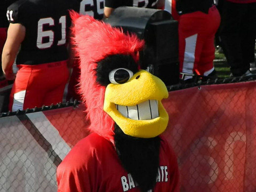 College football is another passion. This is Charlie Cardinal at Ball State in 2013.