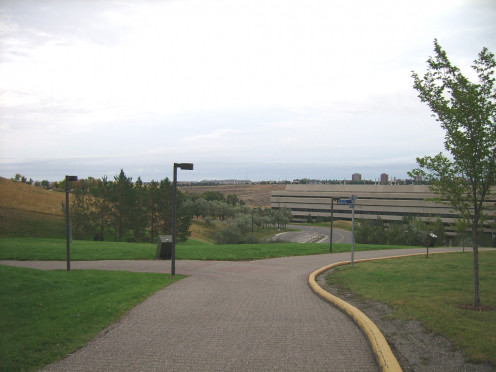 Photograph of the northern section of University Hall at the University of Lethbridge, Lethbridge, Alberta