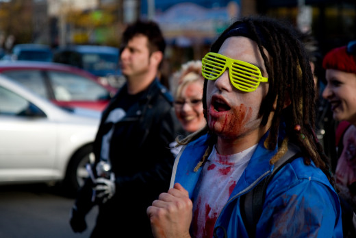 The Zombie Run/Walk starts at 9 AM, October 9th beginning and ending at Right Brain Brewery. For tickets and registration go to tczombierun.com