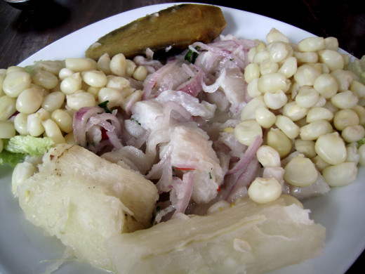 Ceviche dishes are easy to prepare, using lime juice or other citrus juices to marinate and 'cook' the seafood.