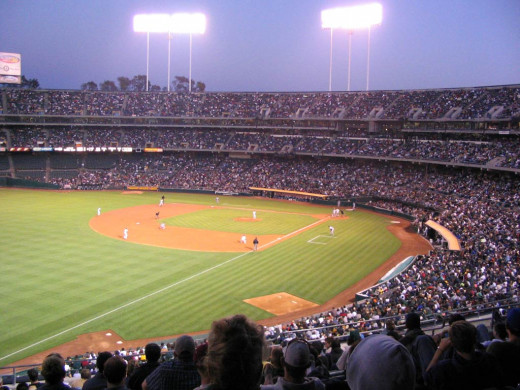 The Coliseum, home of the Oakland A's