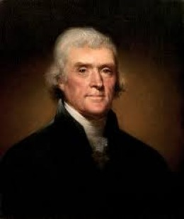"Thomas Jefferson. ""Founding Father,"" second Secretary of State for George Washington; third President of the United States."