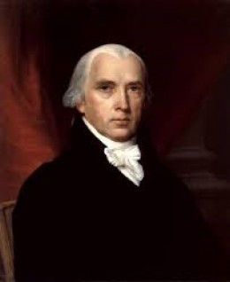 James Madison: 4th President of the United States. It was on his watch that the British invaded Virginia and set fire to Washington D.C., and burned down the White House, during the War of 1812.