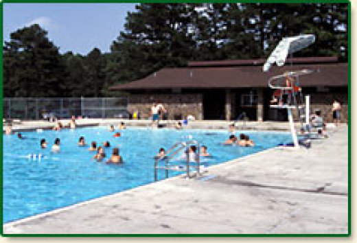 Open during summer months from Memorial Day weekend through Labor Day weekend are two swimming pools at Petit Jean. Lifeguards will be furnished by the park. To reserve the pool for a private pool party, call 501-727-5441.