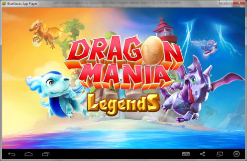Here is the game open in BlueStacks.