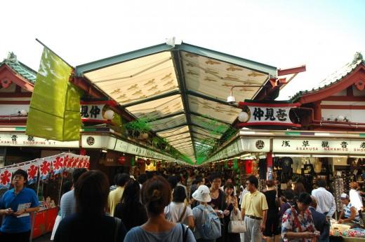 Markets at Asakusa Tokyo Japan