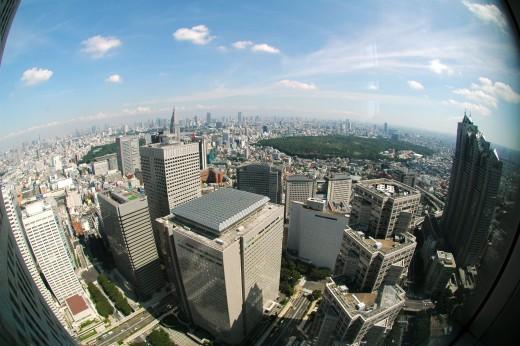 View from Tokyo Metropolitan Government Building Shinjuku Tokyo Japan