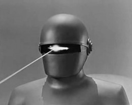 Gort fires its heat ray.