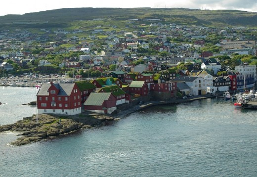 Tórshavn, the capital city of the Faroe Islands.