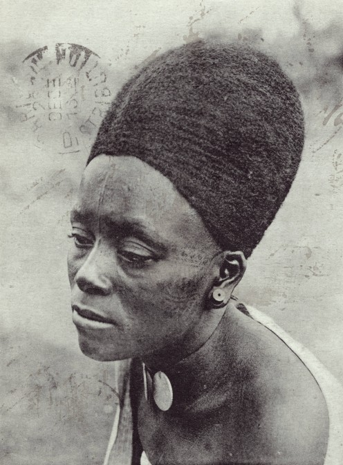 Christian woman of Foumban, in Cameroon Portrait of Lydia Mongwelune, wife of king Njoya's chamberla