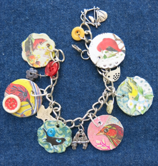 Handmade Jewelry Charms Using Recycled Materials