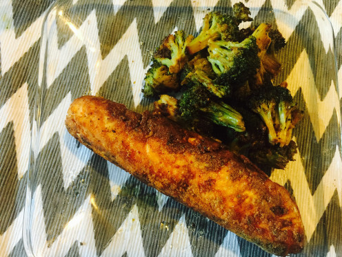 This is my very own recipe of Pan fried salmon with desi( Indian/Pakistani) style masala.