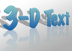 Create a 3-D Text Effect in Photoshop
