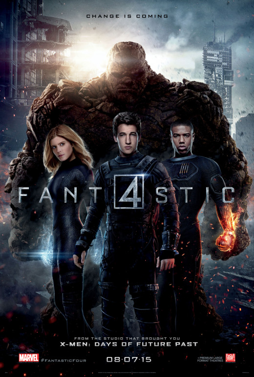 The movie poster for the newest Fantastic Four.