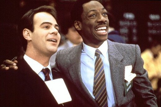 Louis Winthorpe III (Dan Aykroyd) And Billy Ray Valentine (Eddie Murphy)
